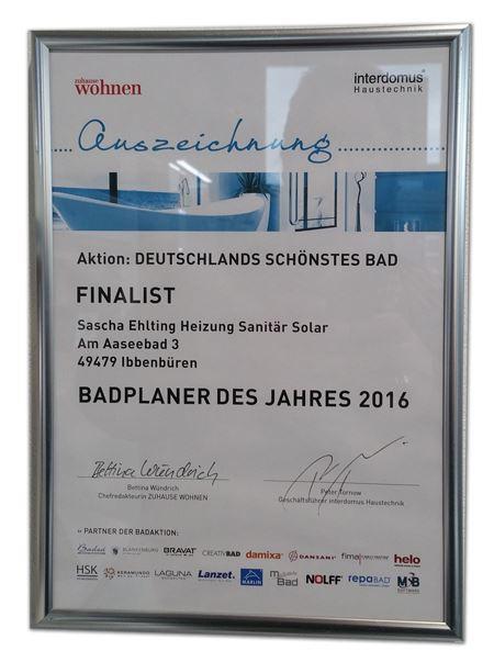 Heizung Ehlting-Ibbenbüren-Schöner wohnen 2016