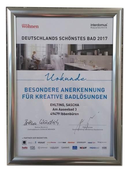 Heizung Ehlting-Ibbenbüren-Schöner wohnen 2017
