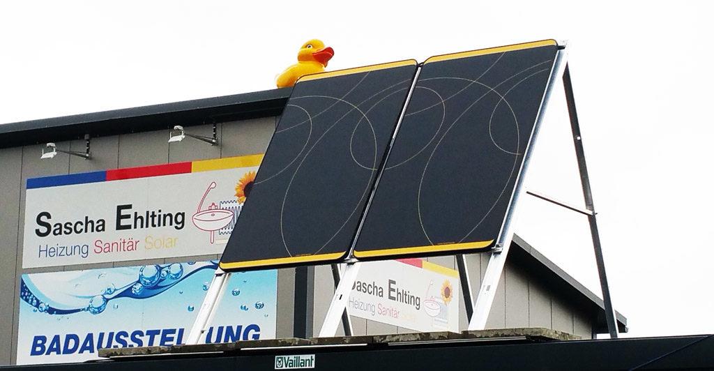 Solaranlage Dachaufbau